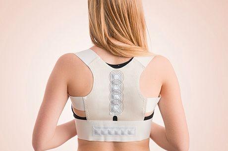 Holdningskorrigerende rygstøtte med magneter. Denne rygstøtte hjælper dine muskler til at slappe af og forbedrer ikke kun din holdning men også din blodcirkulation Takket være magnetterapi og den gode støtte, den giver, er det den perfekte løsning til at