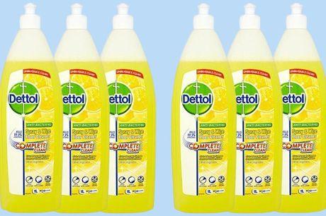 6 flessen Dettol vloer- en allesreiniger Met heerlijke zomergeur<br /> Altijd een voorraad in huis<br /> Inhoud: 6x 1 liter