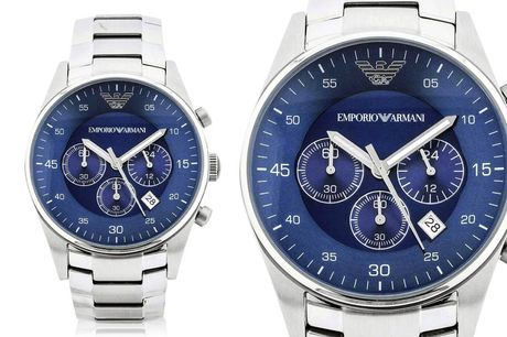 £99 instead of £299 for an Emporio Armani AR5860 silver chronograph men's watch from CJ Watches - save 67%