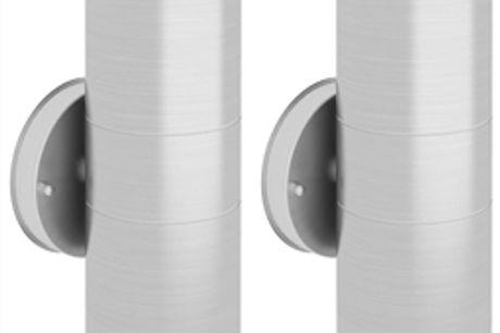 Candeeiros parede iluminação sup/inf exterior 2 pcs aço inox por 55.44€ PORTES INCLUÍDOS