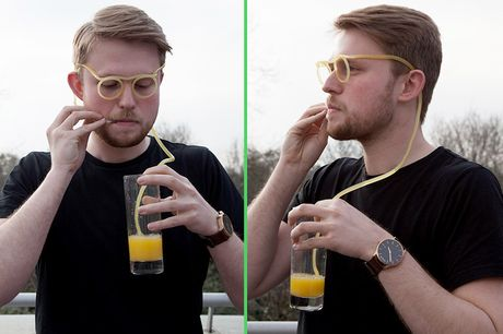 £3.99 instead of £9.99 for a drinking straw glasses from London Exchain Store - save 60%