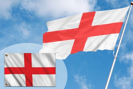 "£2.99 instead of £14.99 for a large 5"" x 3"" england flag from London Exchain Store - save 80%"