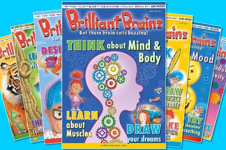 £3 for 50% off three back issues and a three-month subscription to Brilliant Brainz - a creative, colourful, inspiring and educational magazine series for 6 to 12-year olds!