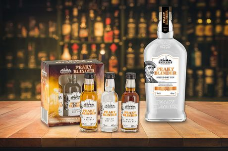 £22 for a 70cl bottle of Peaky Blinder's Spiced Dry Gin and a taster collection gift pack from Sadler's Peaky Blinder Distillery