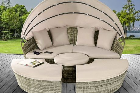 From £499 instead of £999.99 for a 160cm sun island polyrattan daybed lounger,  £649 for a 180cm lounger or £699 for a 210cm lounger from UK Furniture4U - save up to 50%