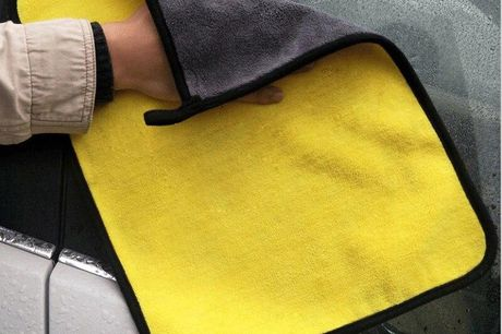 Håndklæde I mikrofiber til rengøring af bilen. Pas på din bil og skån den under bilvasken og rengøringen, ved brug af dette smarte mikrofiber håndklæde Håndklædet er lavet af mikrofiber, så det hverken ridser eller skader den bil, når du benytter det.  Ve