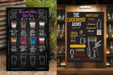 £9 instead of £39.99 for a small personalised pub chalk menu board, £13 for a medium board or £15 for a large board from ColourHouse - save up to 77%