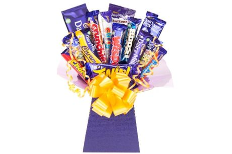 £18 for a 15-piece Cadbury chocolate bouquet from Flowers Delivery 4 U