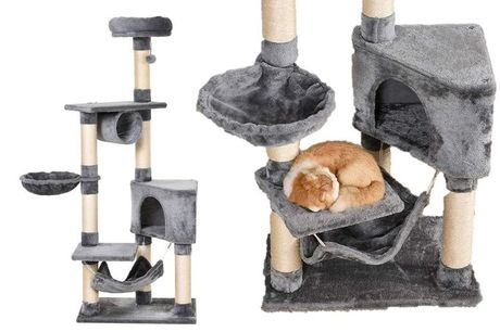 £39 instead of £79.99 for an XL Pawhut cat tower from Mhstar Uk Ltd - save 51%