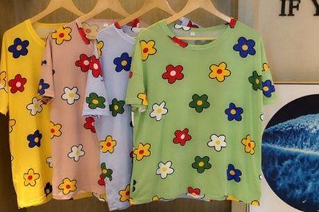 Pijama de flores con 2 piezas