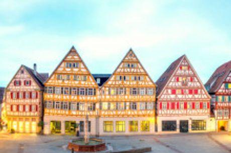 """Erholung zwischen Stuttgart und Tübingen. Von August bis Oktober 2021 buchbar! Freuen Sie sich auf helle, gemütliche Zimmer im """"H+ Hotel Stuttgart Herrenberg"""". In gleich zwei Restaurants genießen Sie schwäbische und internationale Spezialitäten"""