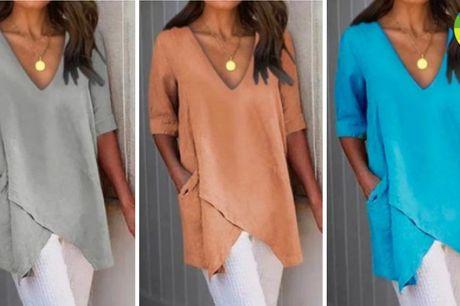 Klassisk og elegant bluse i løstsiddende design og fine farver