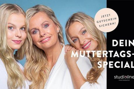 Mutter-/Vatertag-Special: Fotoshooting für 1-6 Personen inkl. Make-up bei STUDIOLINE PHOTOGRAPHY (73% sparen*)