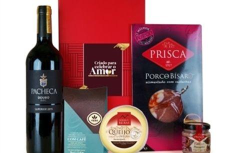 CABAZ PARA ELE 2 da Casa da Prisca: Caixa Vermelha composta por 5 Deliciosos Produtos por 31.50€. PORTES INCLUÍDOS.