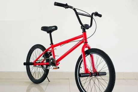 £119 for a kids' shock absorbing BMX mountain bike in black, white or red from Ener-J!
