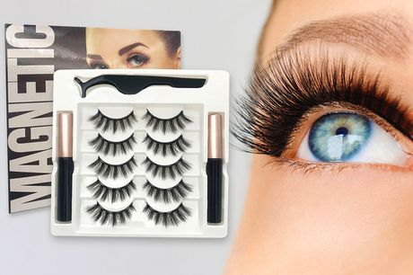 £11.99 instead of £39.99 for five pairs of magnetic eyelashes with two magnetic eyeliners and a pair of tweezers from iGojii - save 70%