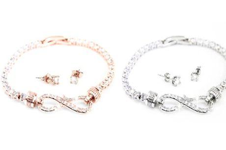 1 o 2 conjuntos de Pendientes y pulsera Arabella Crystals Infinity cristales de Swarovski® en 2 colores