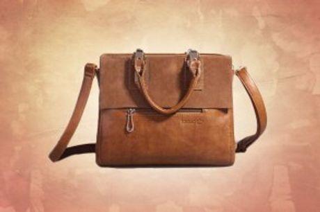 Italiensk Designertaske.  Italiensk designertaske fremstillet PU-læder og læder- perfekt til hverdagsbrug.