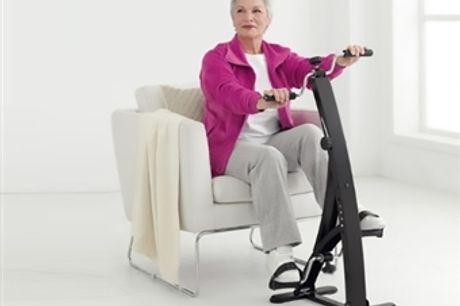 Bicicleta de Pernas e Braços por 62€. Cuide dos seus músculos e articulações sem forçá-los. PORTES INCLUÍDOS.