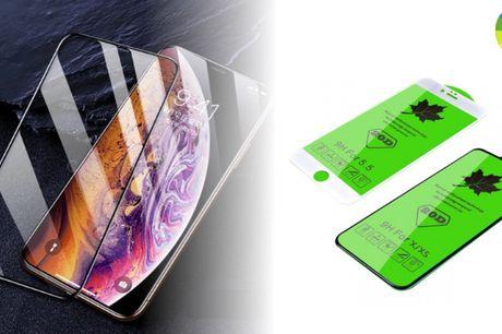 Fuldt hærdet glas til iPhone - beskytter mod ridser og brud