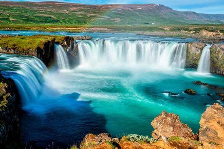 """Island: 4 dage med udflugter - og fly - Direkte fly fra København til Keflavik t/r - 3 overnatninger med morgenbuffet - Udflugt i Reykjavik med dansktalende guide - Udflugt til """"The Secret Lagoon"""" med badning"""