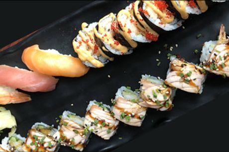 Lækker Sushi for 1 person til LAV pris.. - Glæd dig til en skøn takeaway menu fra HuFu Sushi med 17 stk. sushi. Værdi kr. 250,-