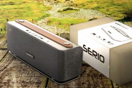 Trådløs SERIO Højttaler.  Trådløs SERIO højttaler med fantastisklydkvalitet -minimalistisk retro design.