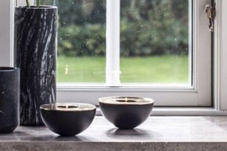 Hemisphere Fyrfadsstager.  Sæt stil på hjemmet med de eleganteHemisphere fyrfadsstager - sættet indeholder 2 stk.