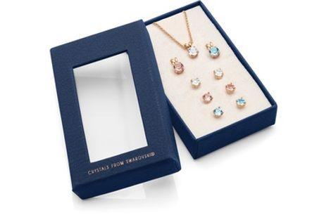 Conjunto de 3 collares y 3 pendientes con cristales de Swarovski®
