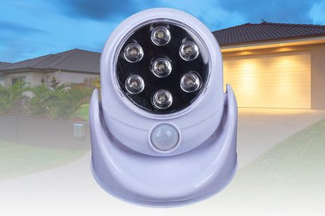£12 instead of £39.99 for an outdoor rotating sensor light from Huundo-P - save 70%