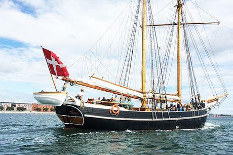 Stævn ud fra Københavns Havn på en ægte skonnert eller et gammelt træskib. Vælg mellem tursejlads eller havnerundfart, hvor I sejler forbi spændende seværdigheder, nyder lidt at drikke og får spændende fortællinger med undervejs.