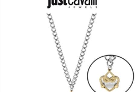 Colar Just Cavalli® | Prateado Dourado |  JCNL00090300 por 69.96€ PORTES INCLUÍDOS