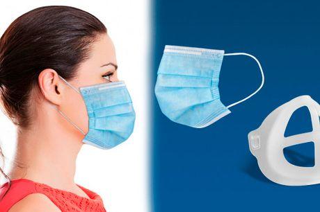 Maskhållare som förbättrar din andning när du bär en ansiktsmask