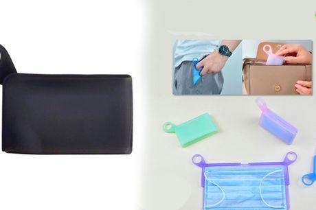 Återanvändningsbar förvaringsficka i kiselgel - perfekt för förvaring av munskydd!