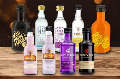 £13 for a pack of six miniature 5cl bottles from Sadler's Peaky Blinder Distillery - including two mystery bottles!