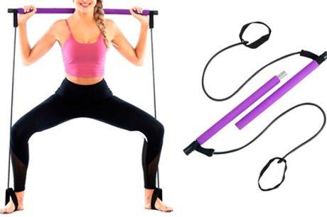 1 o 2 barras de ejercicio con bandas elásticas