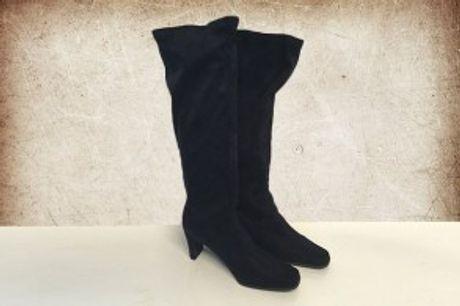 Knæhøje Ruskindstøvler.  Stilfulde knæhøje damestøvler, der er lavet i ruskind af høj kvalitet.