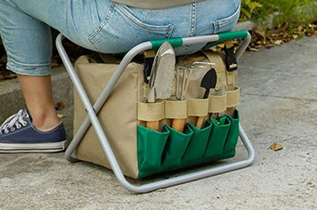 £26.99 instead of £69 for a garden folding stool and tool tote from Magic Trend - save 61%