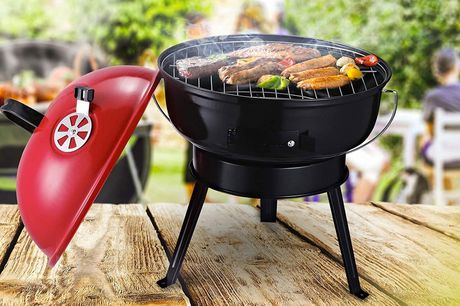 £49 instead of £129 for a red compact charcoal grill BBQ from MH Star - save 62%
