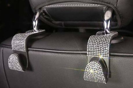 £9.99 instead of £19.99 for bling car headrest hooks holder from EClife-Style - save 50%