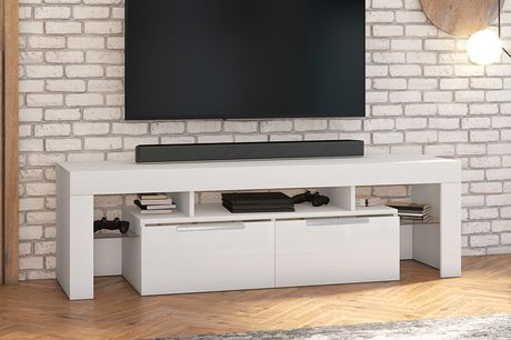 From £149 instead of £199 for a Vergon TV stand or £164 for a Vergon TV stand with an LED lighting option from Selsey Living – save up to 25%