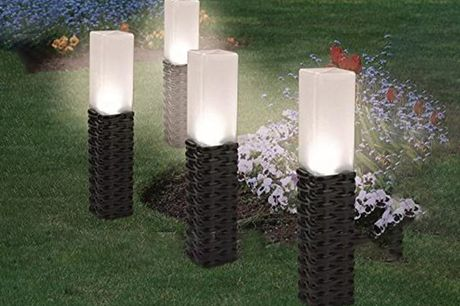 £8.99 instead of £29.99 for a rattan-style solar light, £16.99 for two solar lights or £29.99 for four garden lights from Domo Secret – save up to 70%