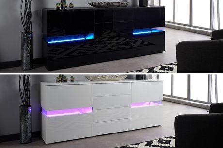 £199 instead of £499 for a medium LED sideboard or £209 for a large sideboard from Furniture Living - save up to 60%