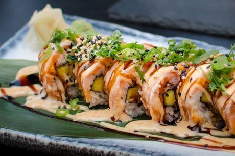 Spis med 33%. Hatoba Lyngby: Bæredygtigt sushikøkken med smagseksplosioner i dekorative rammer.