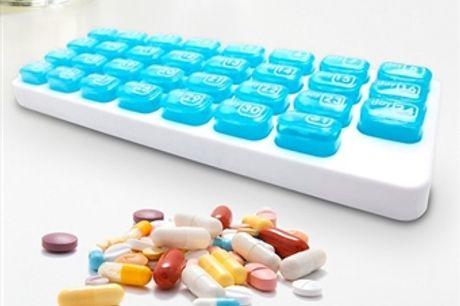 Caixa Mensal de Comprimidos com 31 Compartimentos desde 4€. PORTES INCLUIDOS.