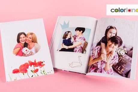 Klassiek fotoboek met 100 pagina's in vijf verschillende formaten via Colorland