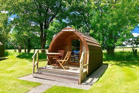 A Tavistock, Devon glamping stay from Into The Blue for two people with leisure access. £55 for one night, or £105 for two nights