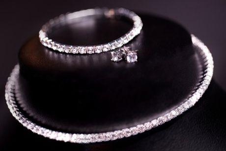 Sieradenset versierd met Swarovski®-kristallen, inclusief verzending