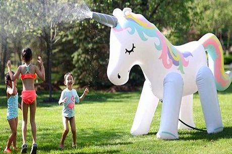 £29 instead of £99 for a 6ft inflatable unicorn sprinkler from Morag Online - save 71%
