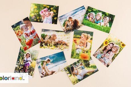 20-500 foto-afdrukken in diverse afmetingen via Colorland